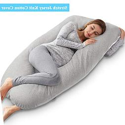 AngQi 55-inch Full Body Pregnancy Pillow, U Shaped Maternity