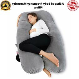 Meiz U Shaped Body Pregnancy Maternity Pillow with Body Cool