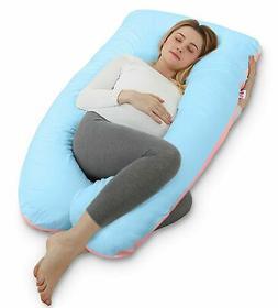 Meiz U Shaped Body Pregnancy Maternity Pillow with Zipper Re