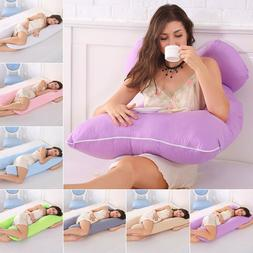 U-Shaped Full Body Pregnancy Pillow Maternity Support for Si