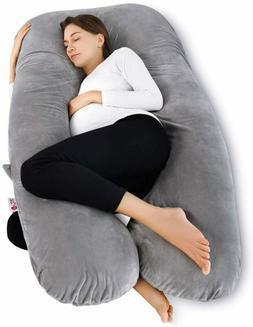 Meiz U Shaped Pregnancy Body Pillow with Zipper Removable Co