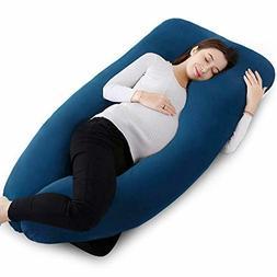 QUEEN ROSE U Shaped Pregnancy Body Pillow with Zipper Remova