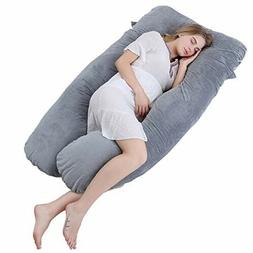 Meiz U Shaped Pregnancy Body Pillow with Zipper Removable Co