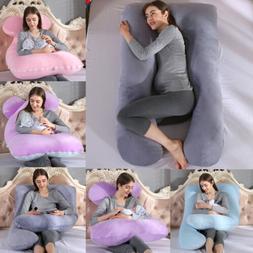 U Shaped Pregnancy Maternity Pillow w/ Zippered Cover Premiu