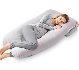 "AngQi 55"" Full Pregnancy Body Pillow, U Shaped Maternity Pil"