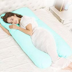 Mallofusa Full Body U Shaped Pregnancy Pillow Soft Contoured