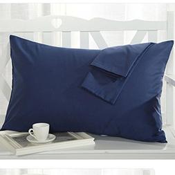 Ultra Soft Microfiber Solid Navy Blue, Decorative Boudoir Pi