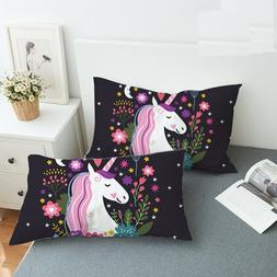 Unicorn Body Pillow Case Cartoon Decorative For Children Flo