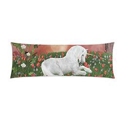 InterestPrint Unicorn In Meadow Body Pillowcase Pillow Cover