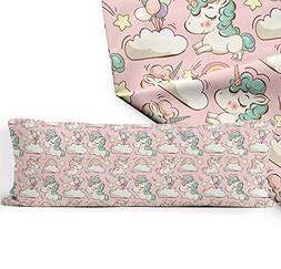 "HYGLX Unicorn Body Pillow Cove Cover 20"" x 48"" Zippered Body"