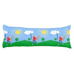 UOOPOO Boy Drawing On Skies Polyester Body Pillow Cover Squa