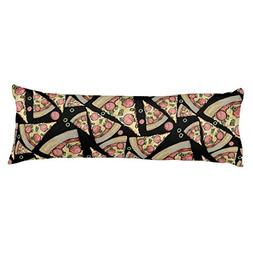 UOOPOO Deluxe Pizza Party Polyester Body Pillow Cover Square