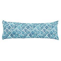 UOOPOO LIKE A MERMAID Nautical Fish Scales Pattern Polyester