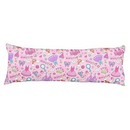 UOOPOO Pink Princess Polyester Body Pillow Cover Square 20 x