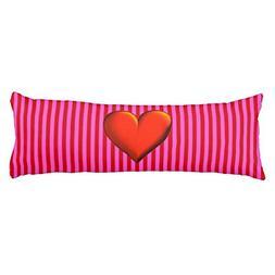 UOOPOO Hot Pink Red Stripe Red Metallic Heart Monogram Polye
