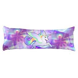 UOOPOO Rainbow Unicorn Polyester Body Pillow Cover Square 20