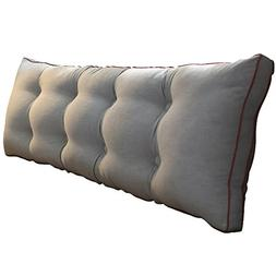 Cushions Upgraded washed cotton headboard double soft bed la