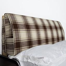 YXCSELL Large Upholstered Headboard Filled Triangular Soft W