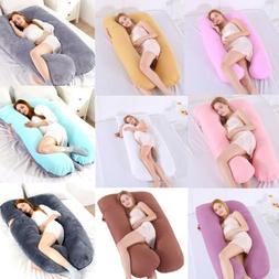 US Full Body Maternity Bed Pregnancy Pillow U Shape Comforta