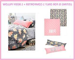 Victoria Secret Pink FLORAL LEOPARD TWIN XL REVERSIBLE COMFO