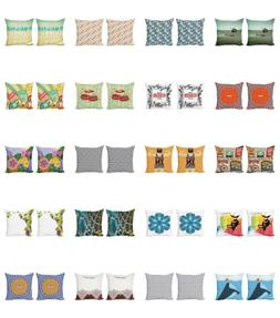Ambesonne Vintage Scenes Cushion Cover Set of 2 for Couch an