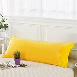 Zhiyuan Warm Fleece Body Pillow Cover Long Pillowcase, 17.5