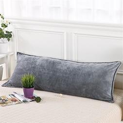 Zhiyuan Warm Fleece Body Pillow Cover Long Pillowcase, 17.5