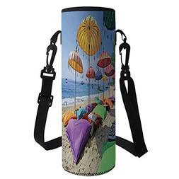 iPrint Water Bottle Sleeve Neoprene Bottle Cover,Balinese De