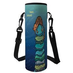 iPrint Water Bottle Sleeve Neoprene Bottle Cover,Cat,Tabby K