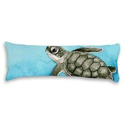 UTF4C Watercolor Blue Sea Turtle Cotton Polyester Linen Body