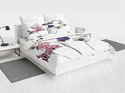 Watercolor owl Twin Bedding Set Lovely Orchids Three Colors