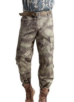 We both Mens Camouflage Tactical Pants Multi-Pockets Militar