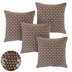 Deconovo Weave Texture Pillow Cover Decorative Rectangular P