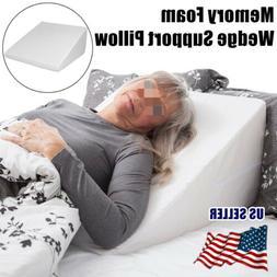 Wedge Pillow Foam Body Memory Foam  Elevate support Back Nec