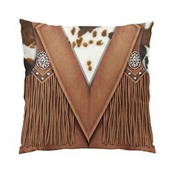 Suklly Hot Western Style Cowhide and Leather Vest Hidden Zip
