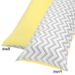 Sweet Jojo Designs Yellow and Gray Zig Zag Full Length Doubl