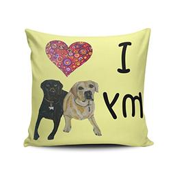 Fanaing Yellow I Heart My Labs Pillowcase Home Sofa Decorati