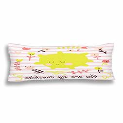 InterestPrint You Are My Sunshine Quote Body Pillow Covers P