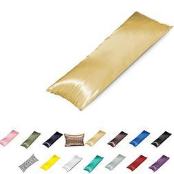 TAOSON Silky Soft Satin Envelope Style Body Pillow Cover Pil